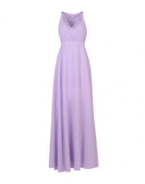 Длинное платье PINKO. Цвет: сиреневый
