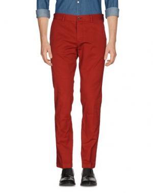 Повседневные брюки PAOLONI. Цвет: красный