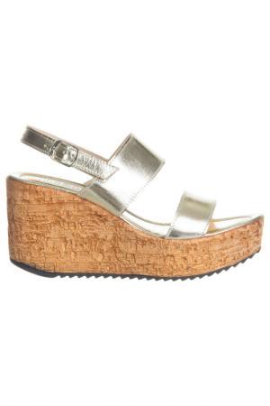 High heels sandals NILA. Цвет: gold