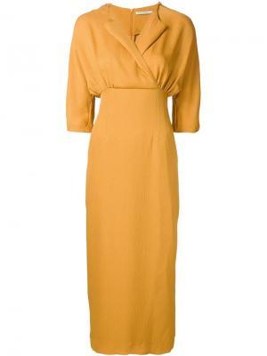 Платье Jojo Emilia Wickstead. Цвет: жёлтый и оранжевый