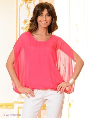 Блузка Elegance. Цвет: фуксия