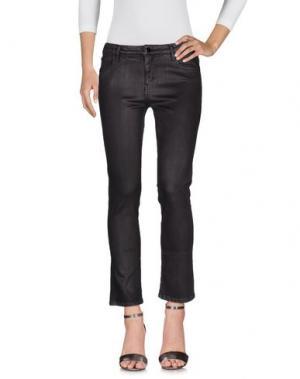Джинсовые брюки 75 FAUBOURG. Цвет: баклажанный