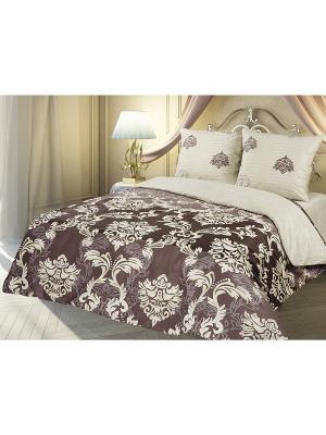 Комплект постельного белья 2,0 перкаль Индокитай Романтика Славы Зайцева. Цвет: коричневый, антрацитовый
