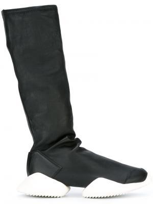 Сапоги Ro Runner из коллекции Adidas x Rick Owens. Цвет: чёрный