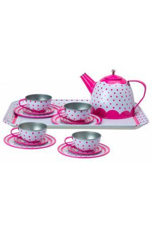 Чайный сервиз ALEX. Цвет: розовый, белый