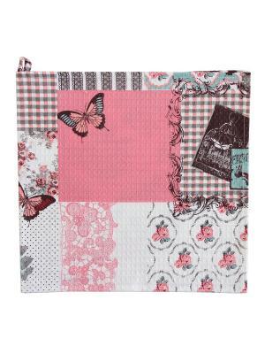 Набор полотенец,3штуки Fresca Design. Цвет: розовый, белый