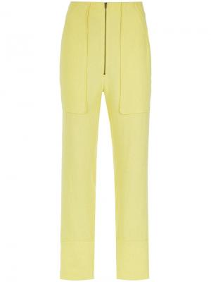 Straight leg trousers Olympiah. Цвет: жёлтый и оранжевый