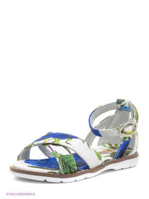Сандалии Vitacci. Цвет: синий, зеленый, белый