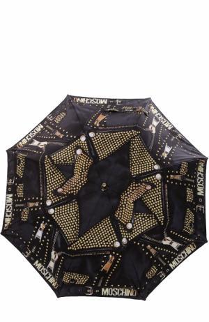 Зонт-трость Moschino. Цвет: черный