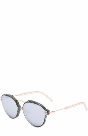 Солнцезащитные очки Dior. Цвет: зеленый
