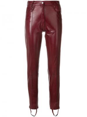 Узкие байкерские брюки Magda Butrym. Цвет: красный