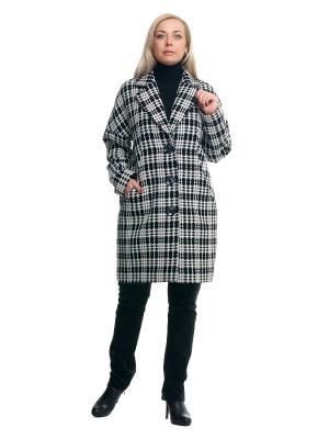 Пальто OLSI. Цвет: серый, белый, черный