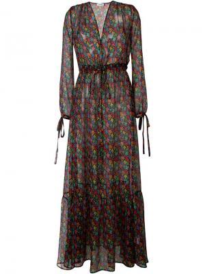 Платье с цветочным принтом Au Jour Le. Цвет: чёрный