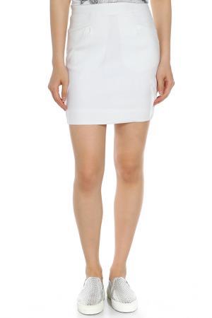 Юбка Versace Jeans Couture. Цвет: белый