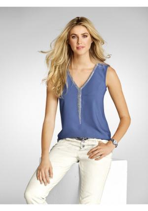 Топ B.C. BEST CONNECTIONS. Цвет: белый, джинсовый синий, серый