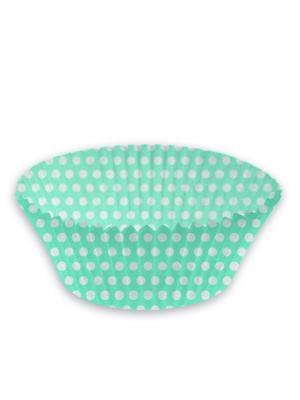 Формочки для кексов бумажные,  диаметр - 4,8см, MINT BLUE, 100 шт. DUNI. Цвет: голубой