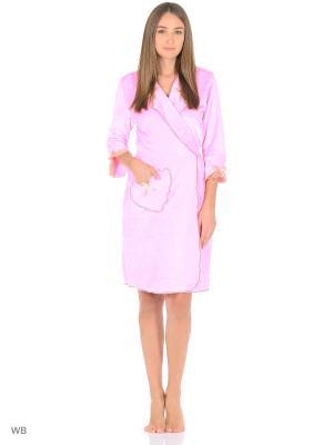 Халат банный Magwear. Цвет: розовый