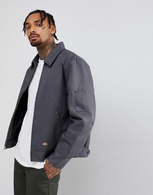 Dickies Серая утепленная куртка. Цвет: серый