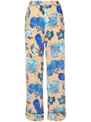 Пижамные брюки Electro Orchid Romance Was Born. Цвет: телесный