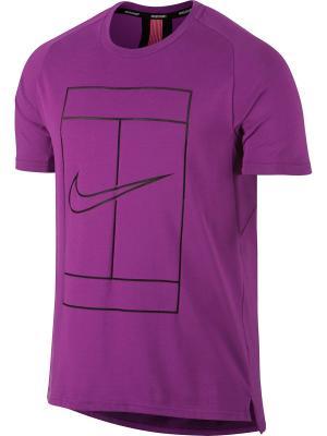 Футболка M NKCT DRY TOP BASELINE RIB Nike. Цвет: фиолетовый