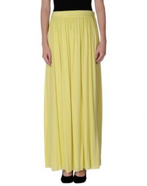 Длинная юбка PUROTATTO. Цвет: желтый
