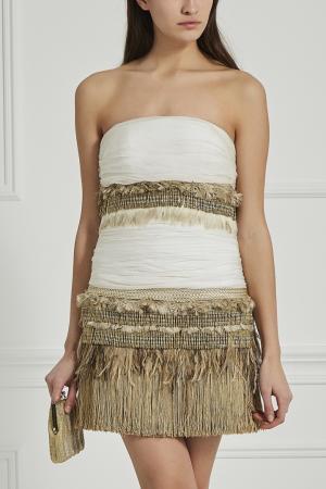 Платье-мини Jay Ahr. Цвет: белый