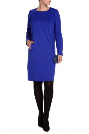 Прелестное платье в деловом стиле Forus. Цвет: синий