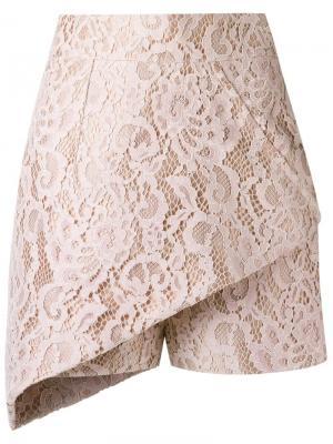 Кружевная юбка Martha Medeiros. Цвет: телесный