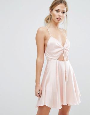 Finders Keepers Платье мини Fernando. Цвет: розовый