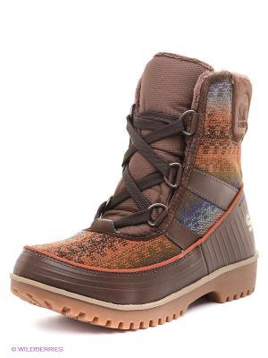 Ботинки SOREL. Цвет: коричневый, рыжий