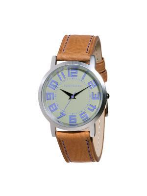 Часы Tokyobay Track West Lt.Brown. Цвет: коричневый