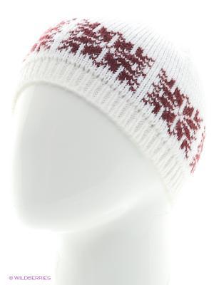 Шапка со снежинкой Непростые вещи. Цвет: молочный, бордовый