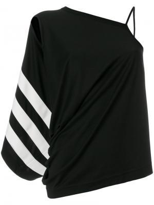 Asymmetric shoulder blouse Y-3. Цвет: чёрный