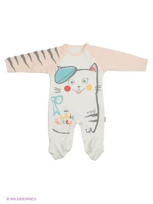 Комбинезон для малышей WO&GO. Цвет: молочный, кремовый