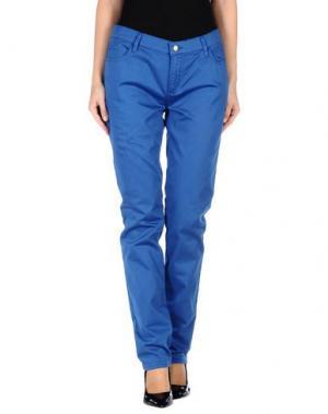Повседневные брюки MONKEE GENES. Цвет: ярко-синий