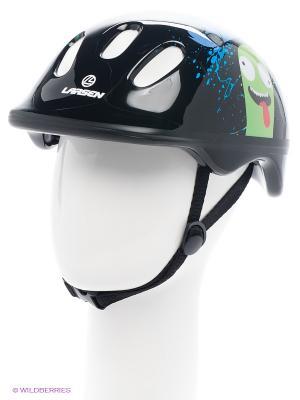 Шлем роликовый Larsen. Цвет: черный, зеленый