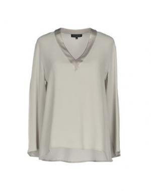 Блузка ANTONELLI. Цвет: светло-серый