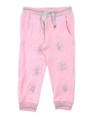 Повседневные брюки MICROBE. Цвет: розовый