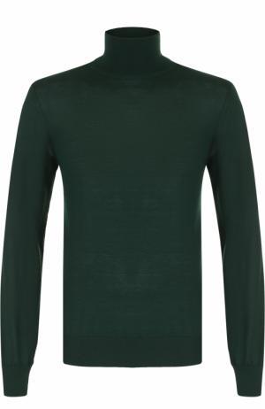 Кашемировая водолазка тонкой вязки Dolce & Gabbana. Цвет: зеленый