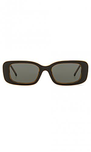 Солнцезащитные очки marco Komono. Цвет: черный