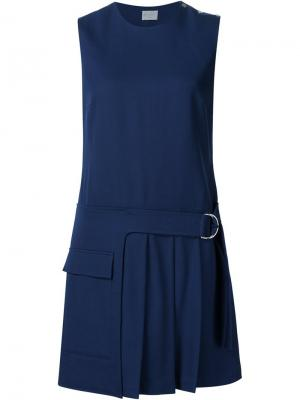 Платье без рукавов с плиссированным подолом Grey Jason Wu. Цвет: синий