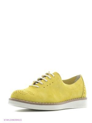 Туфли Sekada. Цвет: желтый