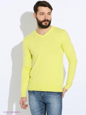 Пуловер Oodji. Цвет: светло-зеленый