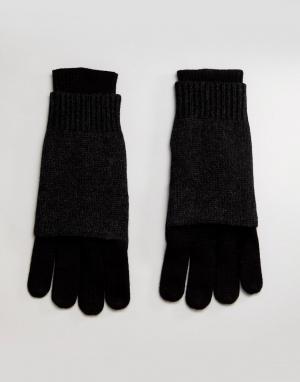 AllSaints Перчатки с добавлением мериносовой шерсти. Цвет: черный