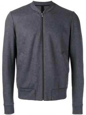 Легкая куртка на молнии Harris Wharf London. Цвет: серый