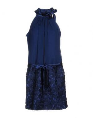 Платье до колена MUSANI COUTURE. Цвет: темно-синий