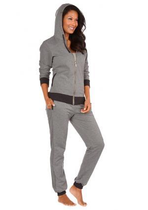 Домашние брюки Arizona. Цвет: серый меланжевый