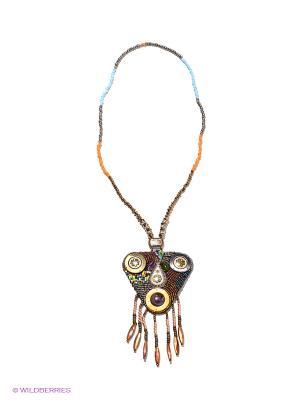 Ожерелье Infiniti. Цвет: коричневый, голубой, оранжевый, серый, синий