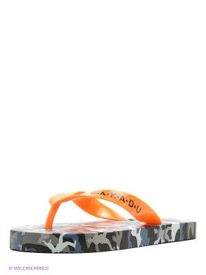 Шлепанцы Kakadu. Цвет: оранжевый