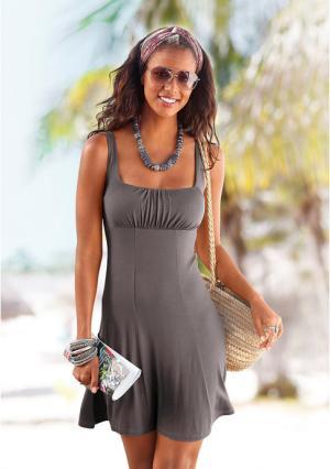Пляжное платье BEACH TIME. Цвет: бирюзовый, серо-коричневый, черный